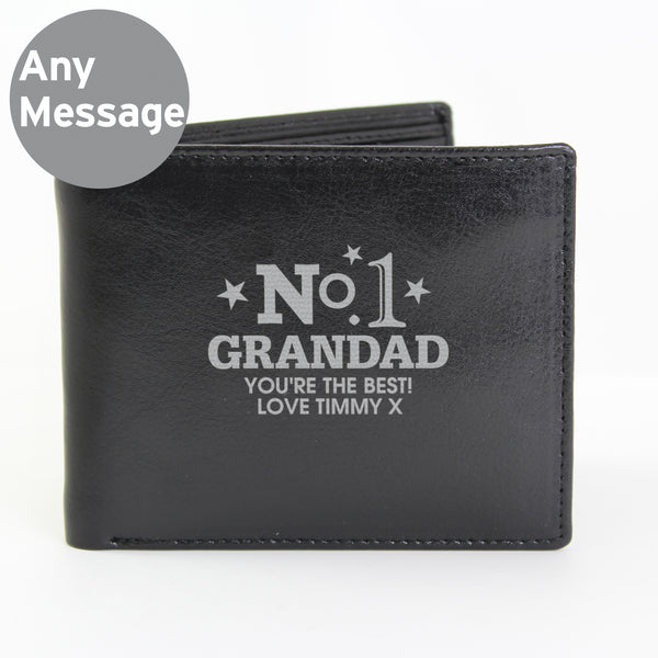Personalised No.1 Leather Wallet from Sassy Bloom Gifts - alternative view