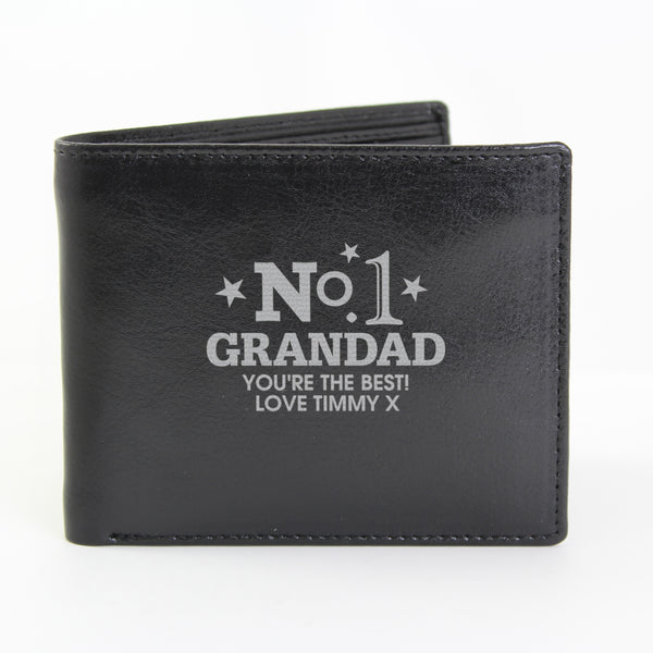 Personalised No.1 Leather Wallet lifestyle image