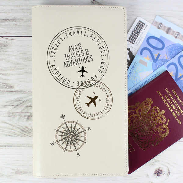 Personalised Stamp Travel Document Holder from Sassy Bloom Gifts - alternative view
