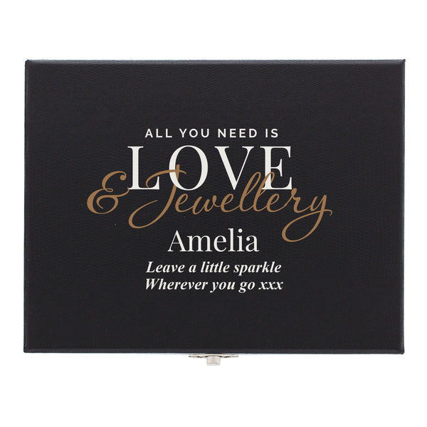 Personalised Love & Jewellery Organiser Box white background
