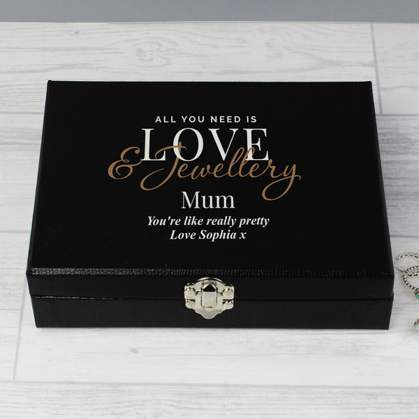 Personalised Love & Jewellery Organiser Box with personalised name