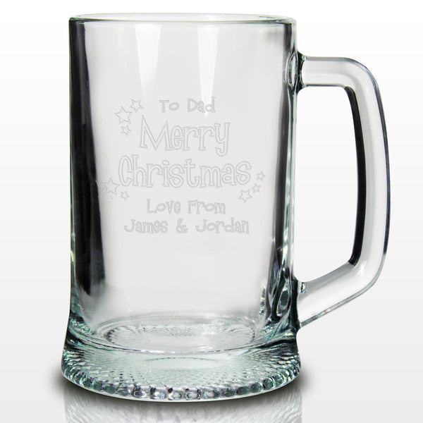 Personalised Merry Christmas Pint