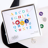 Personalised Alphabet silver plated necklace