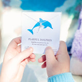 Playful Dolphin sterling silver necklace