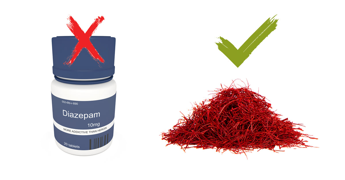 Use Saffron Instead of Diazepam - Pure Saffron Farms