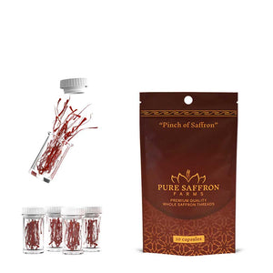 Pouch of 10 Saffron Capsules - Pure Saffron Farms