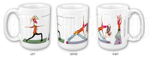 Grounding Poses Yoga Ceramic Mugs