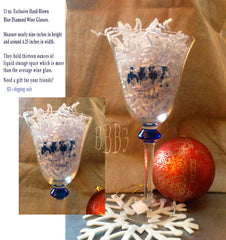 Blue Diamond  Wine Glass