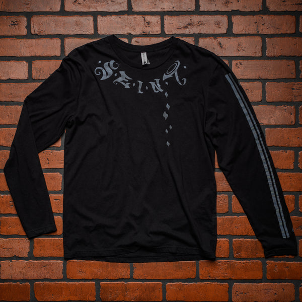 Seint Black Long Sleeve Shirt with Reflective Logos