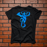 Seint Ladies Black Short Sleeve with Blue Logo