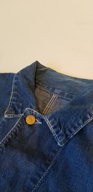 Vintage 1960's Carhartt Headlight Finck Denim Chore Coat