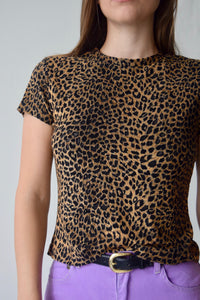 Stretchy Leopard Top