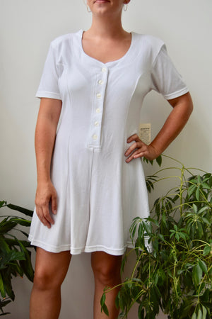 Wheat Shift Dress With Pockets