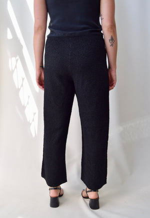 Faux 'Pleats Please' Pants