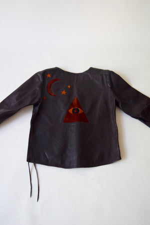 Vintage Woodstock Era Custom Occult Leather Jacket