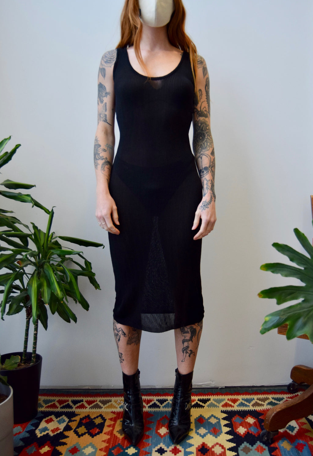Sexy Rayon Knit Tank Dress