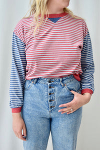"""Touch Of Class"" Long Sleeve Striped T-Shirt"