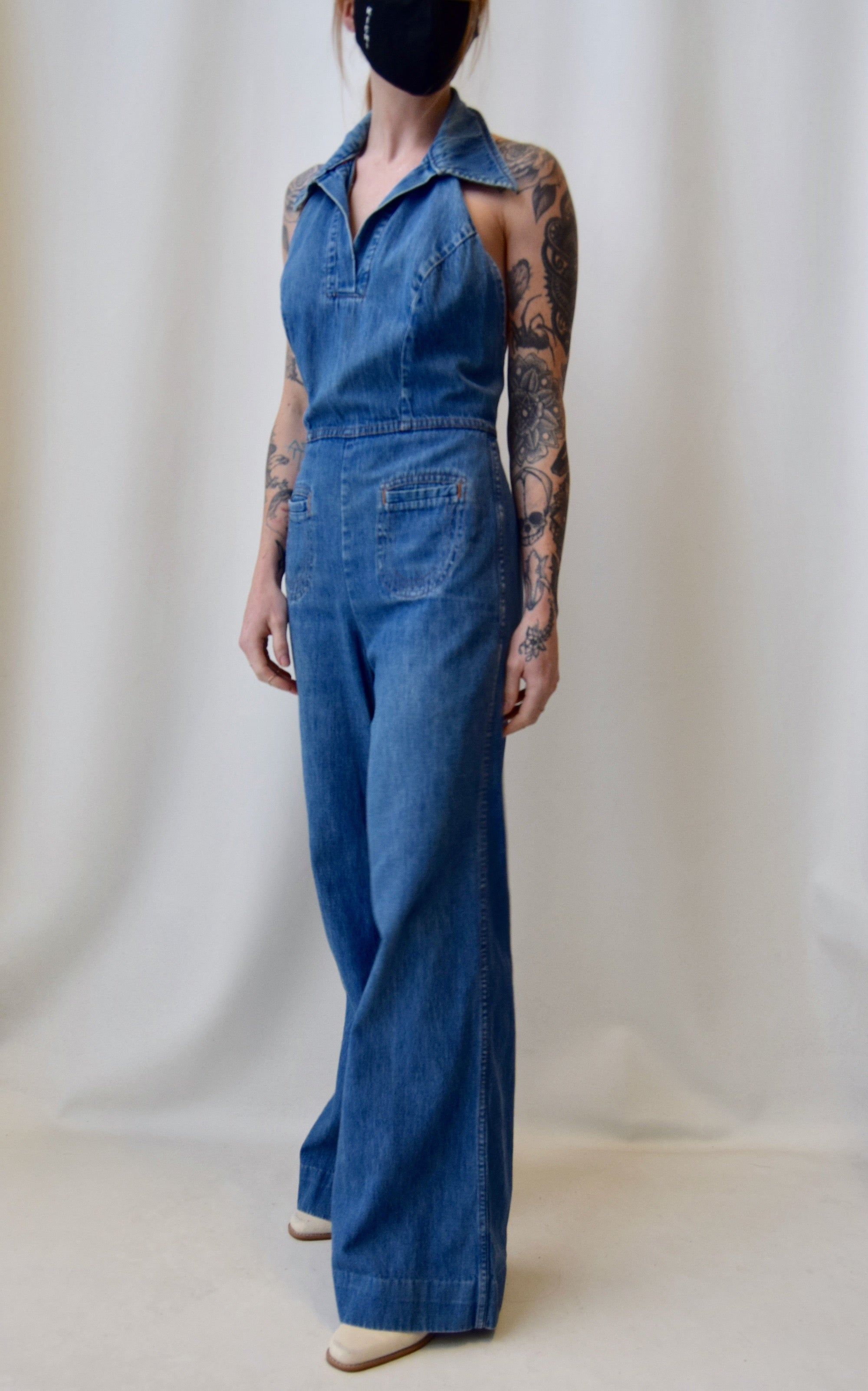 Charlie's Angels Denim Jumpsuit