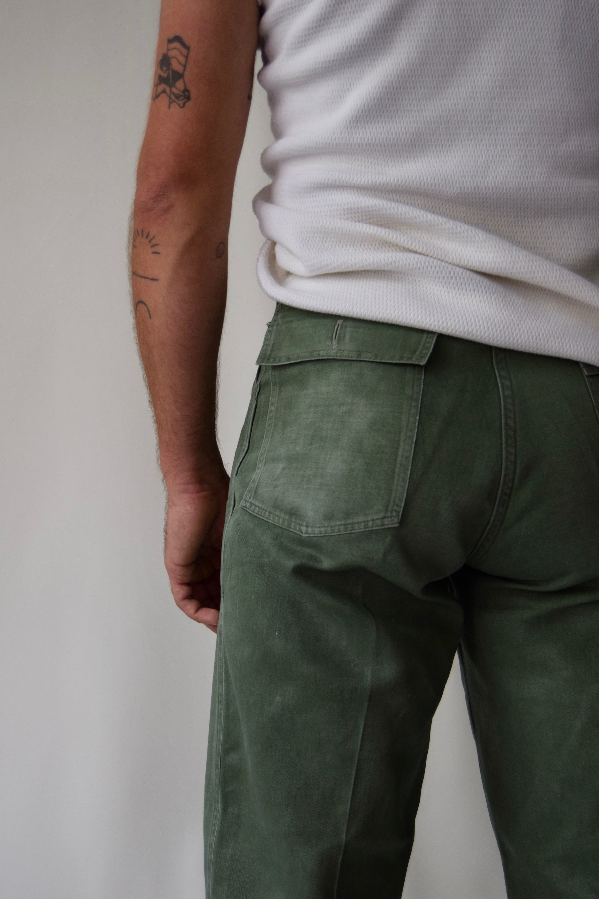 "Men's 40's/50's Olive ""Reeves"" Trousers"