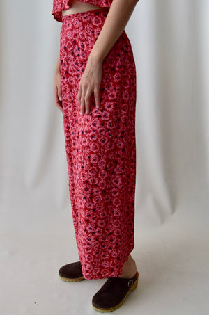 Cerise Floral Two Piece Set
