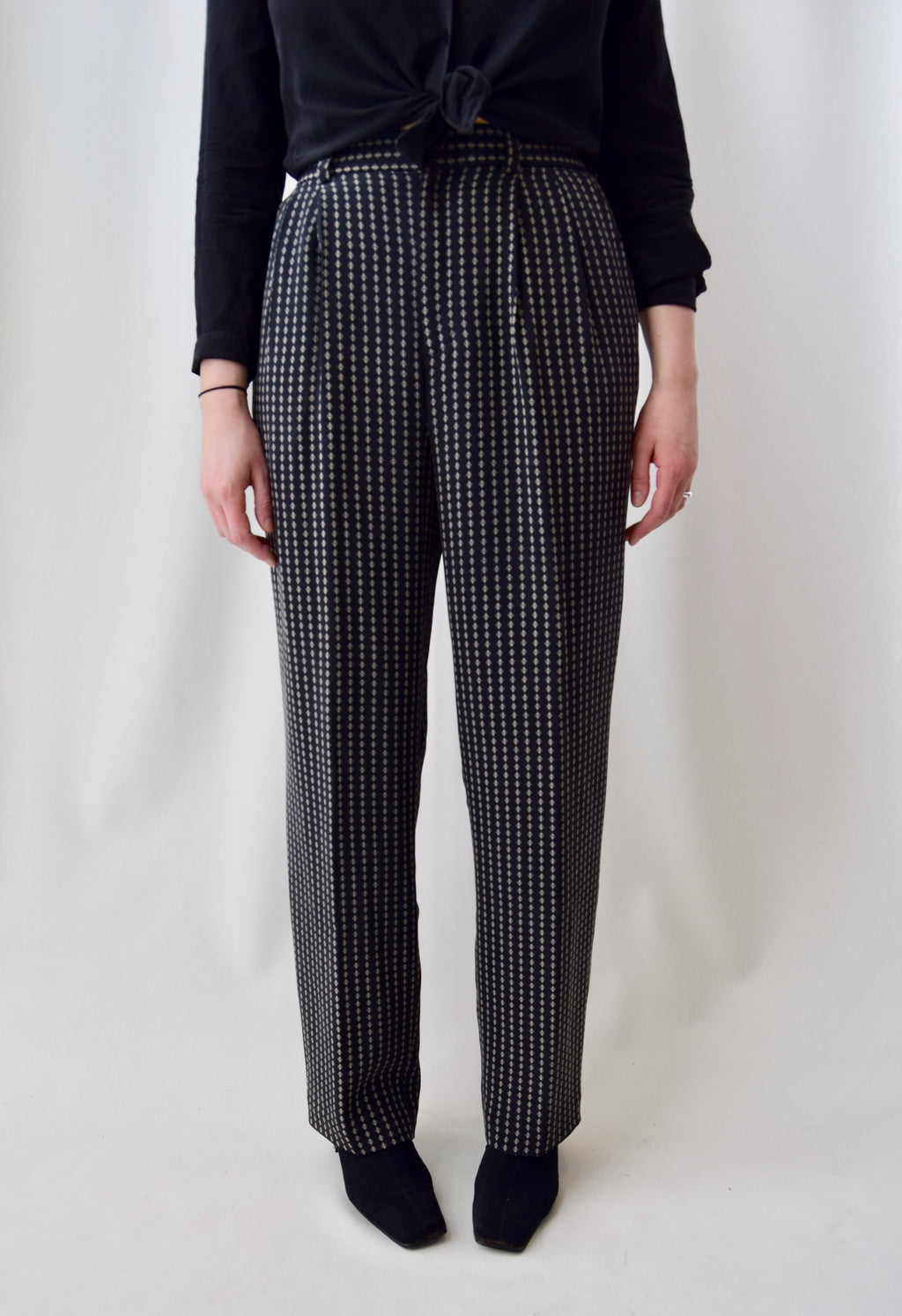 Silk Diamond Patterned Trousers