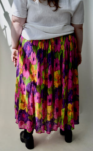 Brilliant Floral Indian Cotton Skirt