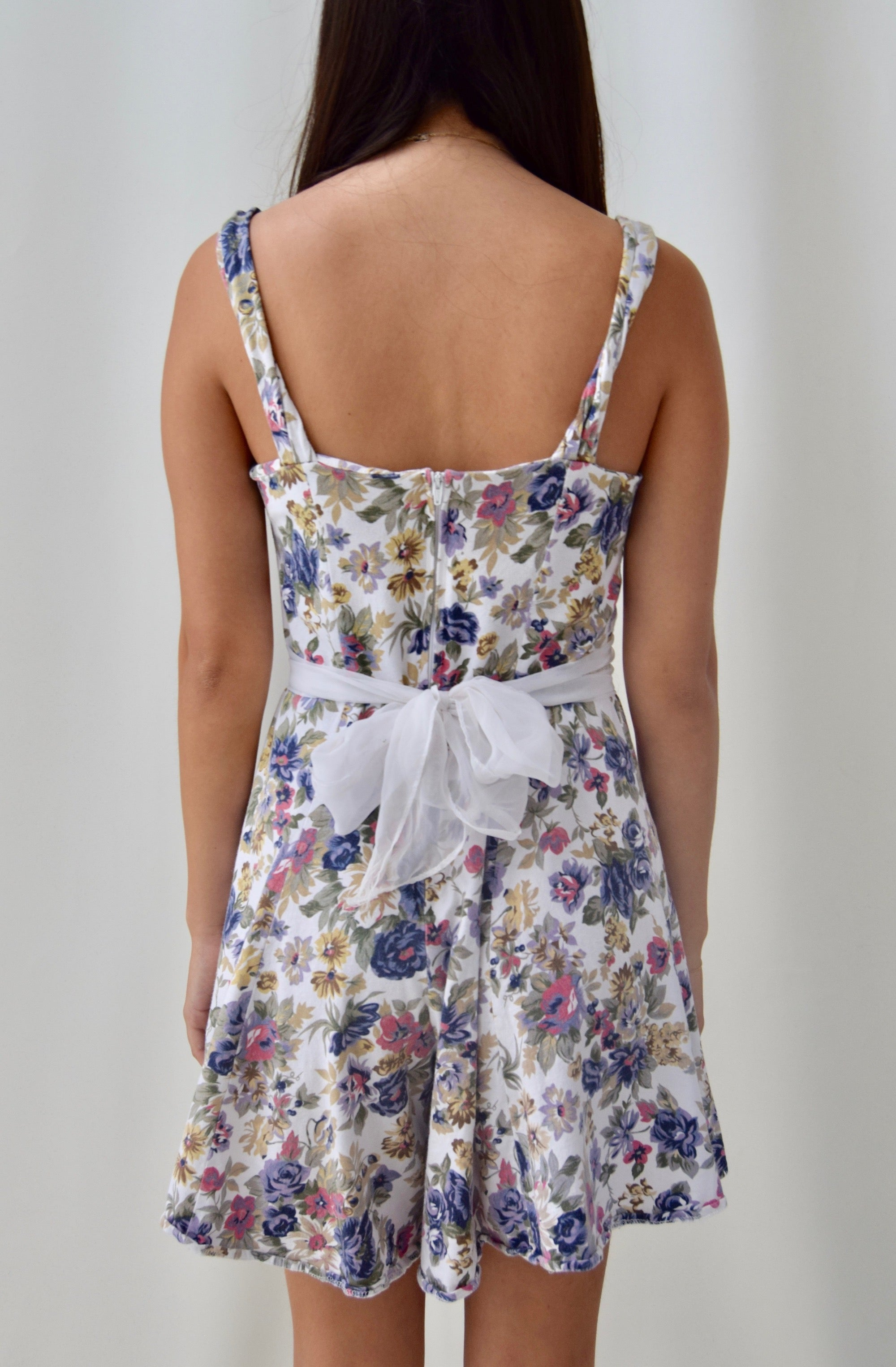 Floral Romper With Bow