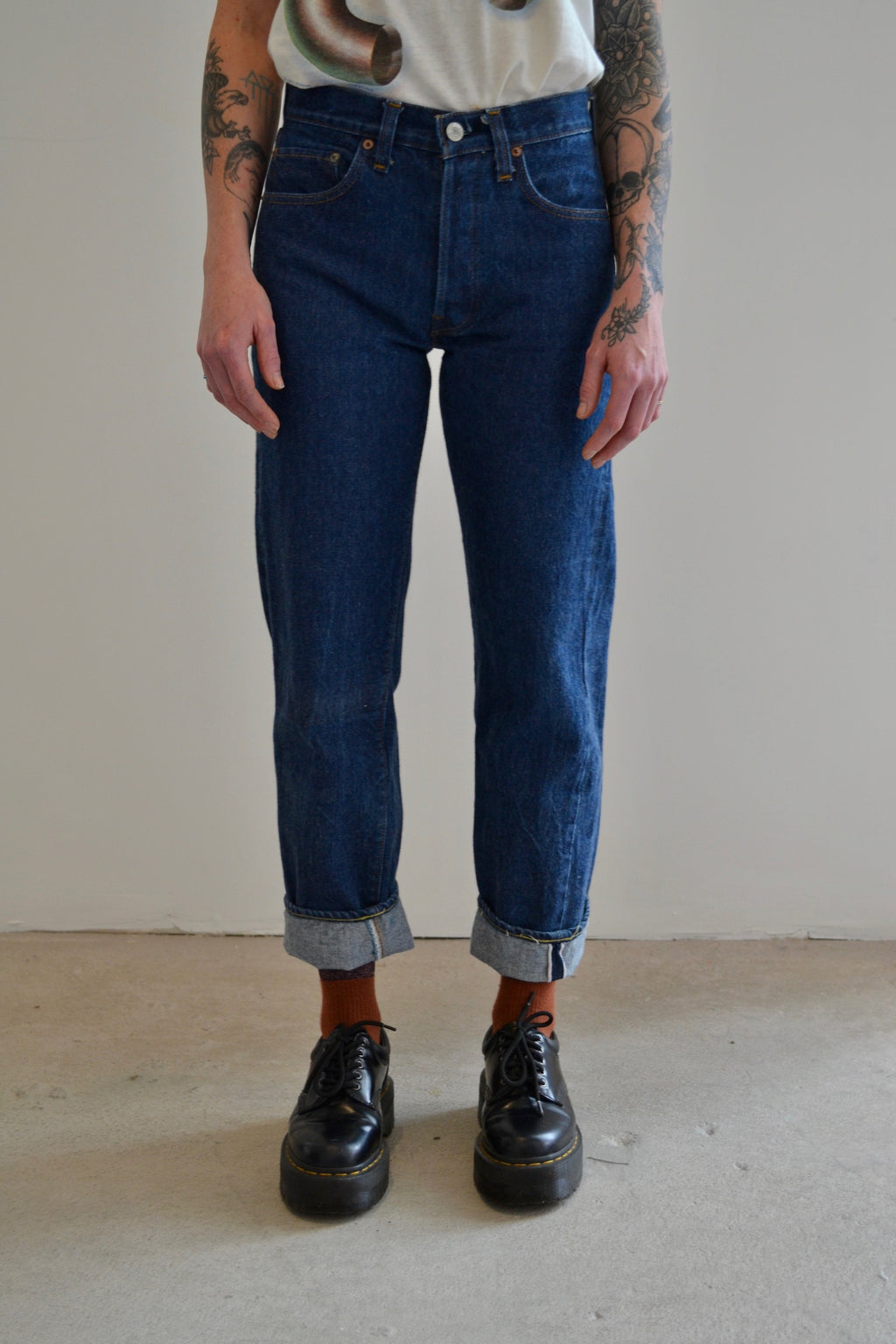 1980's Levis 501 Dark Wash Denim Selvedge Jeans
