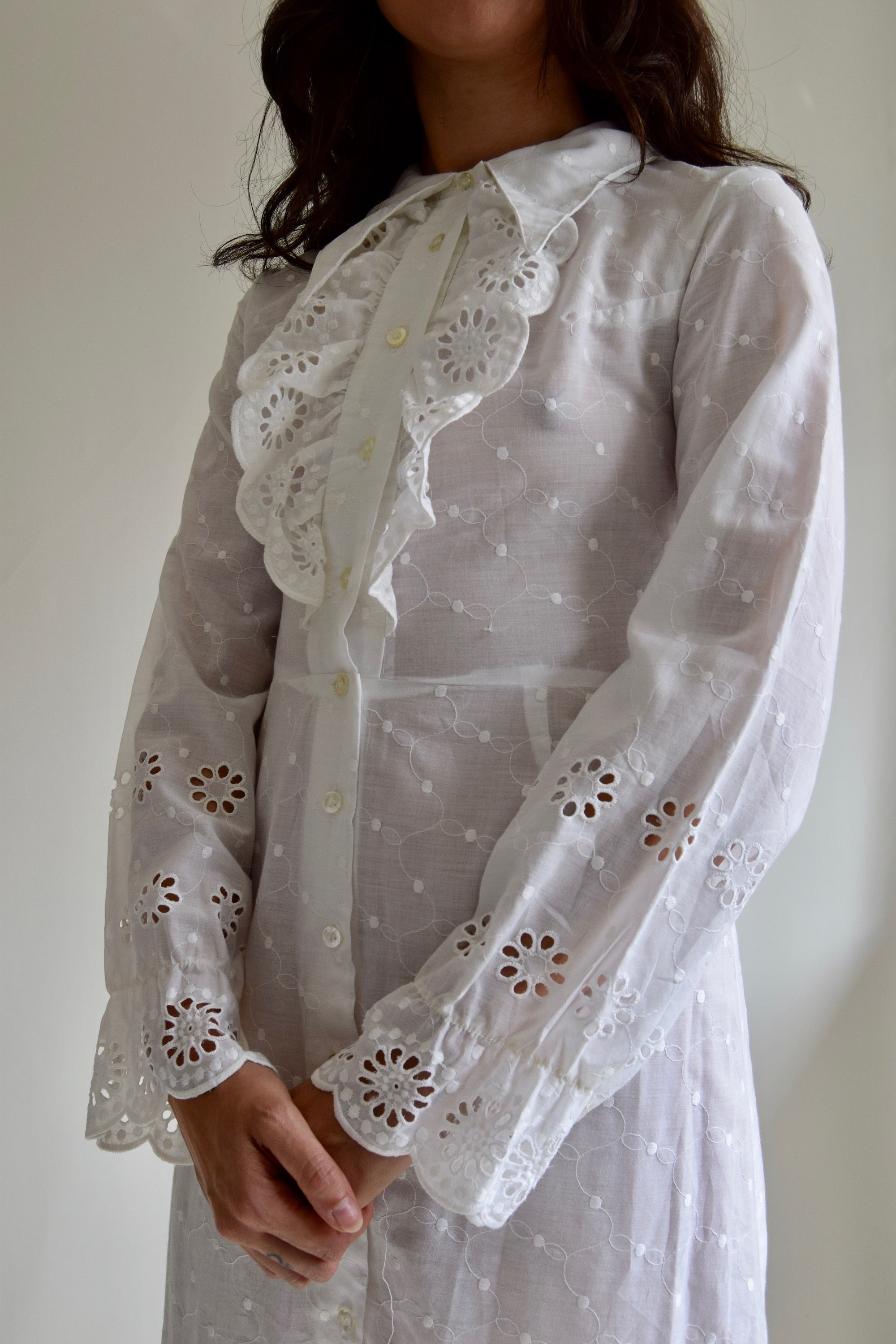 Vintage Ethereal Eyelet Lace Dress