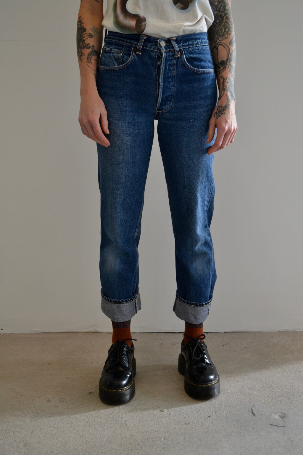 Early 1960's Levis Big E Hidden Rivet Selvedge Jeans