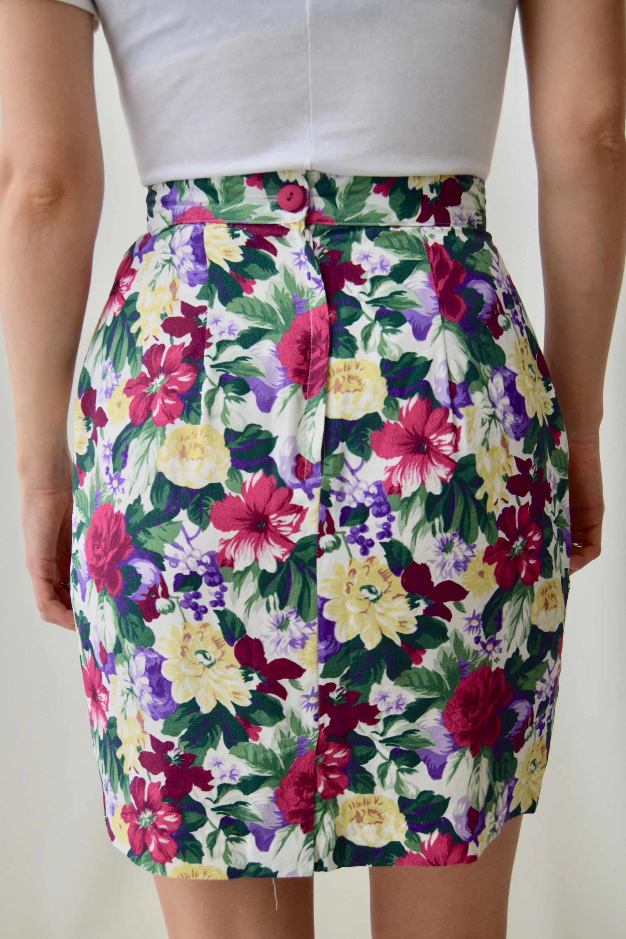90's Floral Wallpaper Skirt