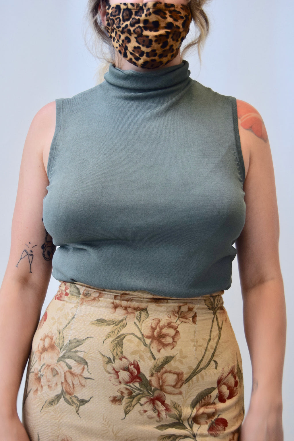 Sage Green Mock Neck