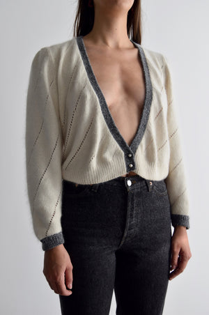 Sweet Lil Angora Silk Sweater Top FREE SHIPPING