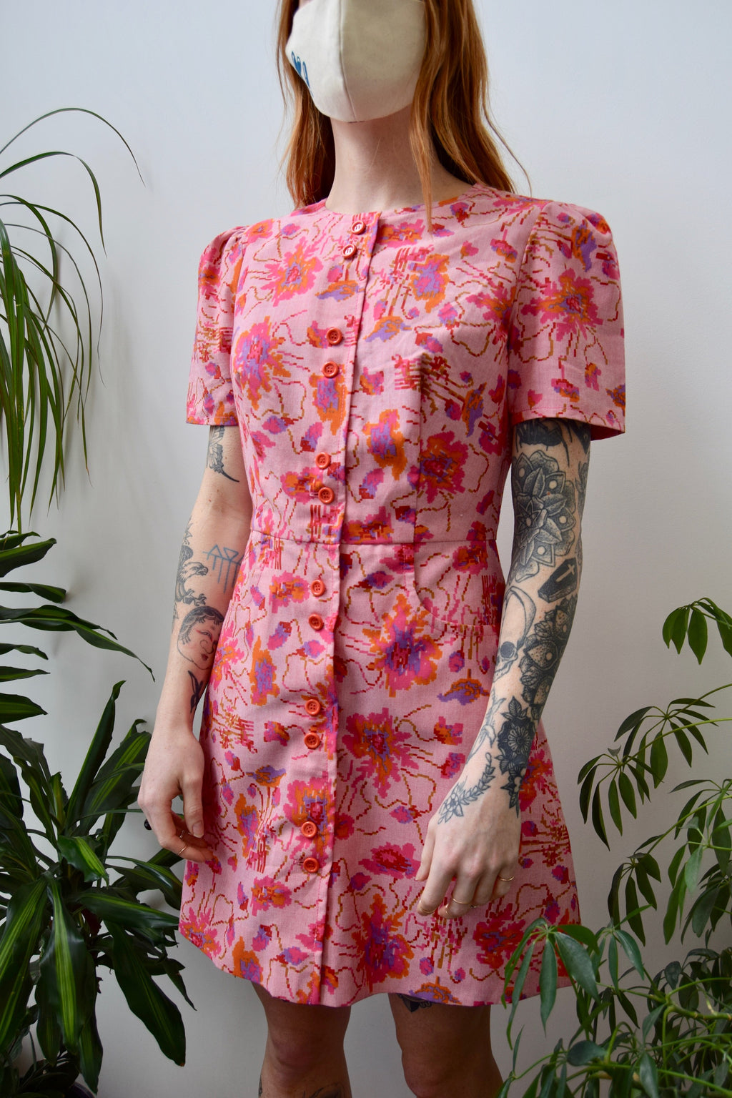 Digital Floral Mini Dress