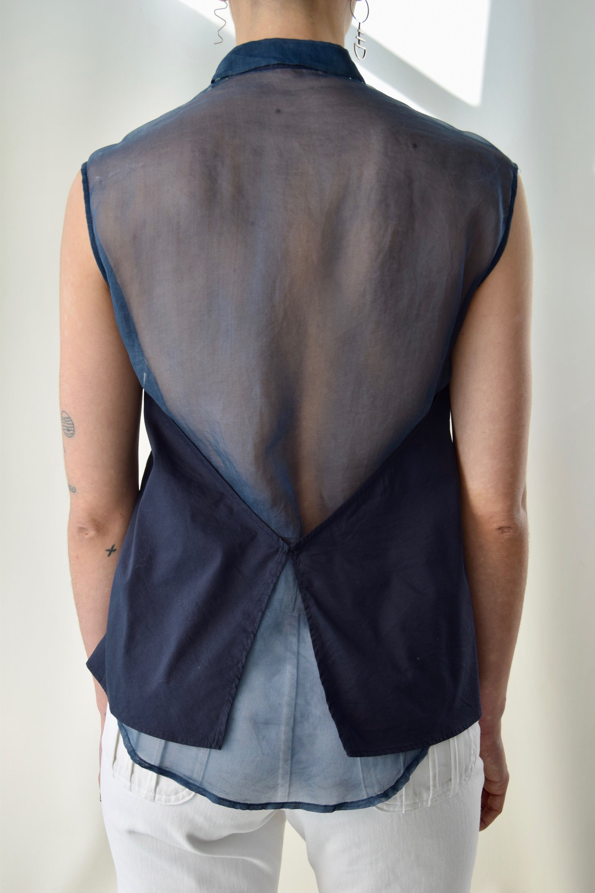 3.1 Phillip Lim Silk Cotton Sleeveless Blouse