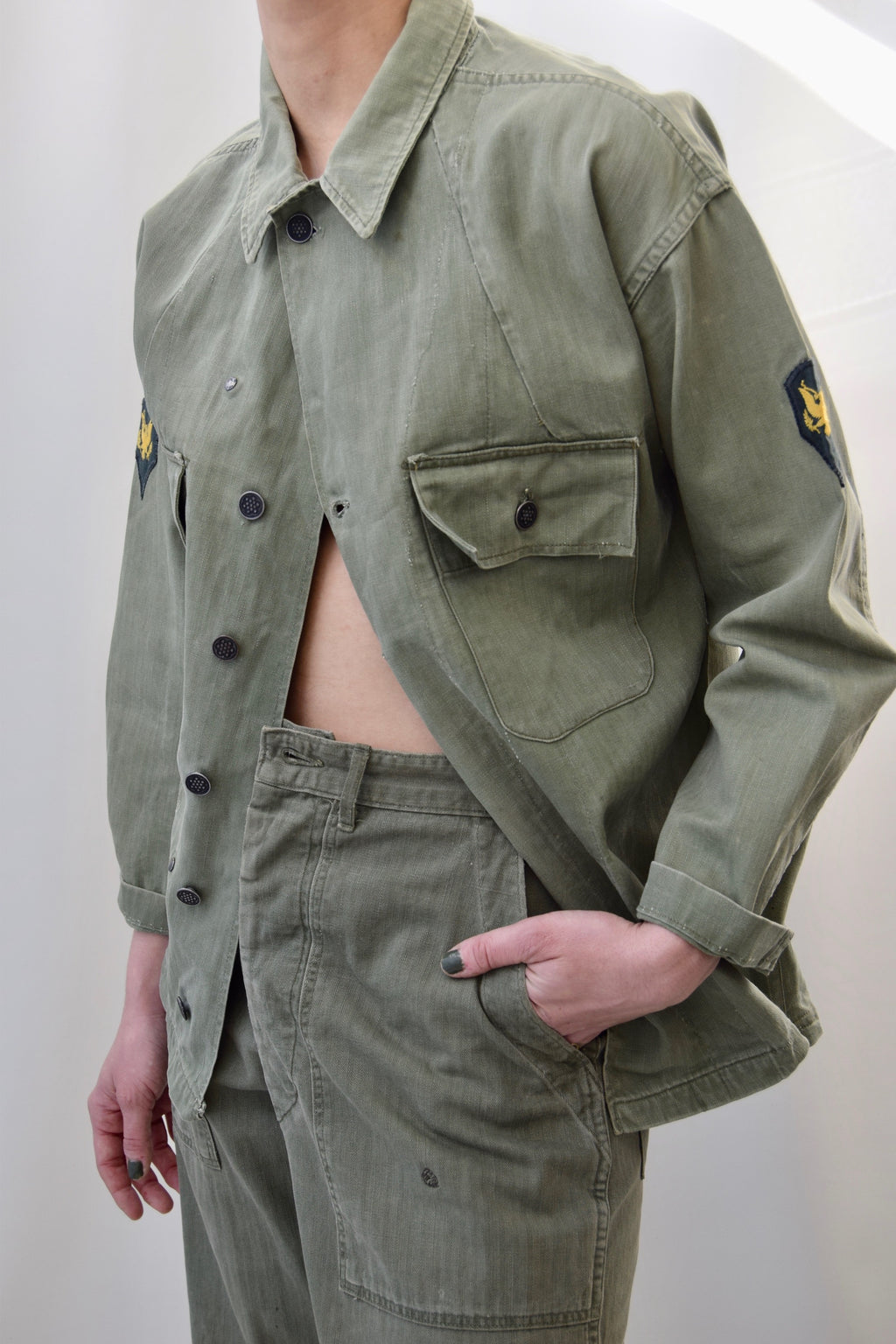 WWII HBT 13 Star Shirt and Trouser Set