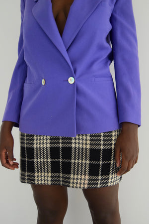 "Lavender Wool ""Christian Dior"" Double Breasted Blazer"