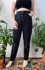 """Chic"" Black Mom Jeans"