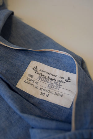 World War II US Navy Women's Chambray Blouse FREE SHIPPING TO THE U.S.