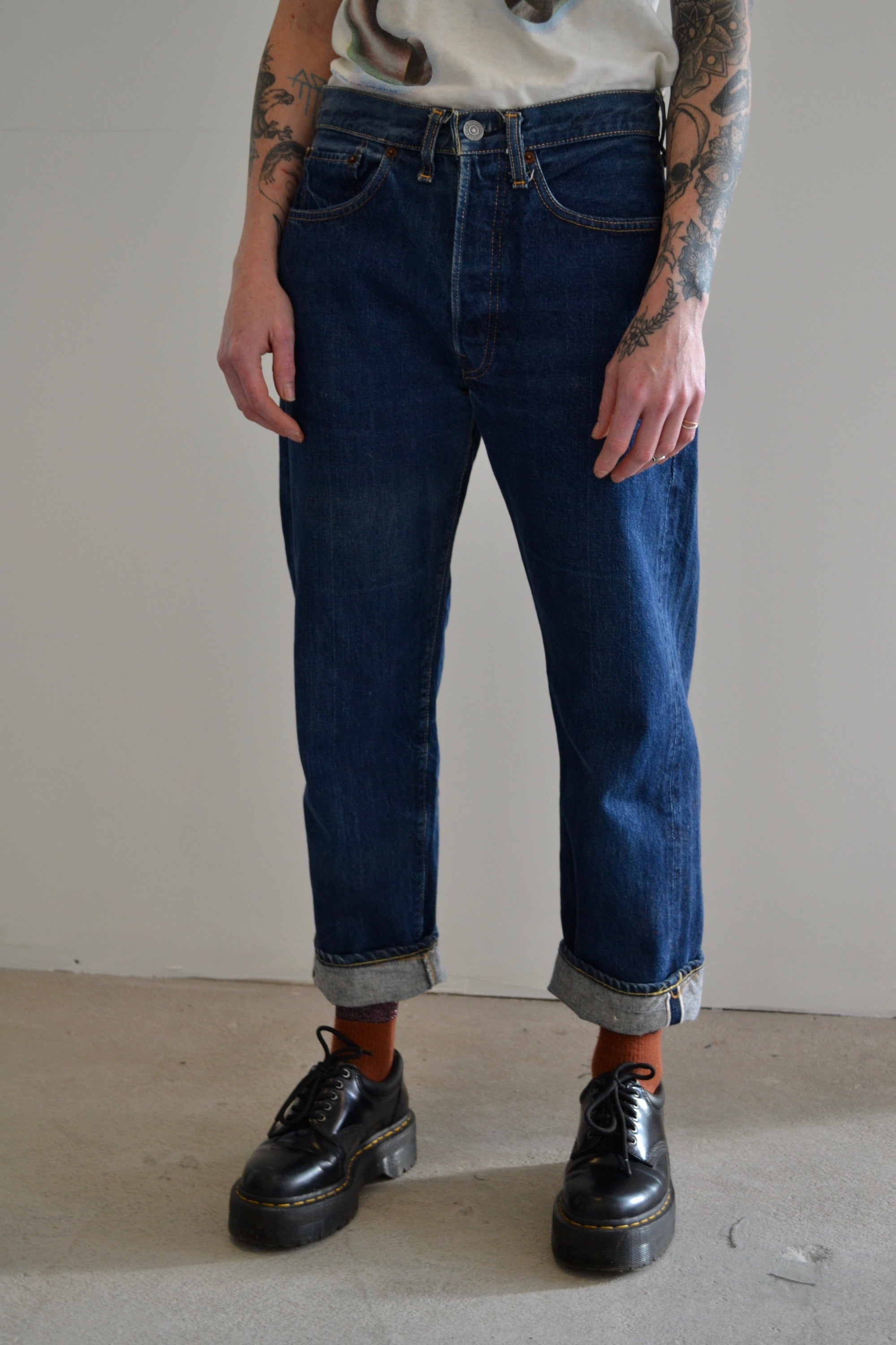 1960's Levis 501 Big E Selvedge Dark Wash Jeans