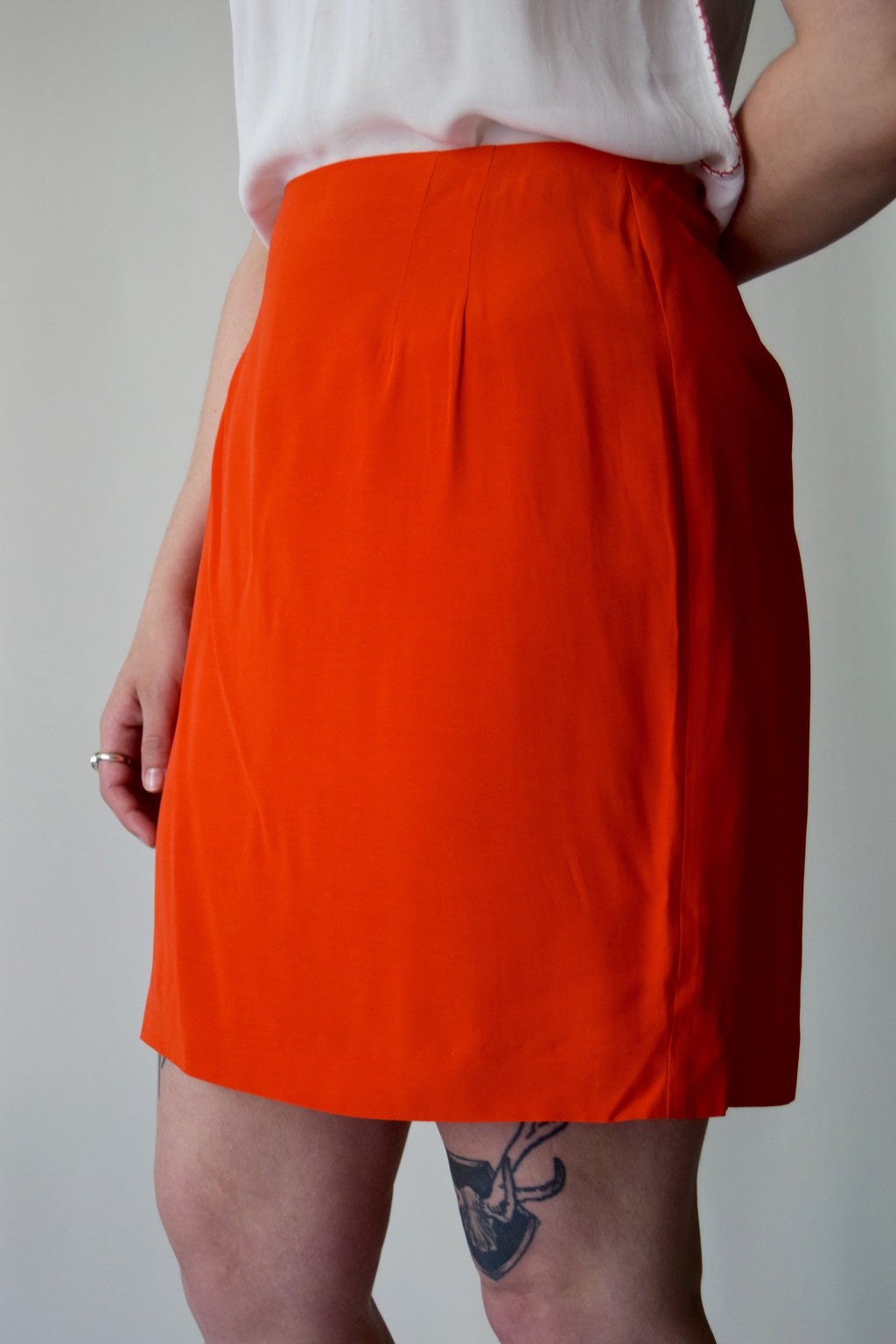 Vintage Orange Mini Skirrrt
