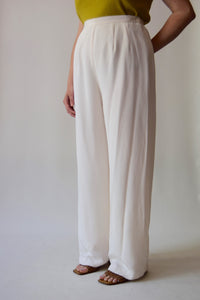 Saks Fifth Avenue Pearl Silk Trousers