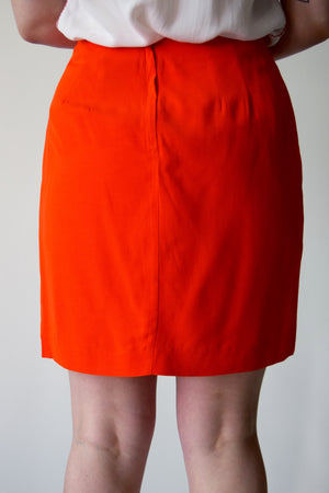 Vintage Orange Mini Skirrrt FREE SHIPPING TO THE U.S.