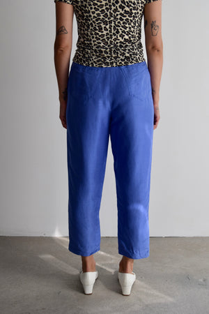Electric Purple Silk Trousers FREE SHIPPING TO THE U.S.