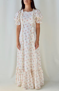70's Micro Floral Maxi Dress
