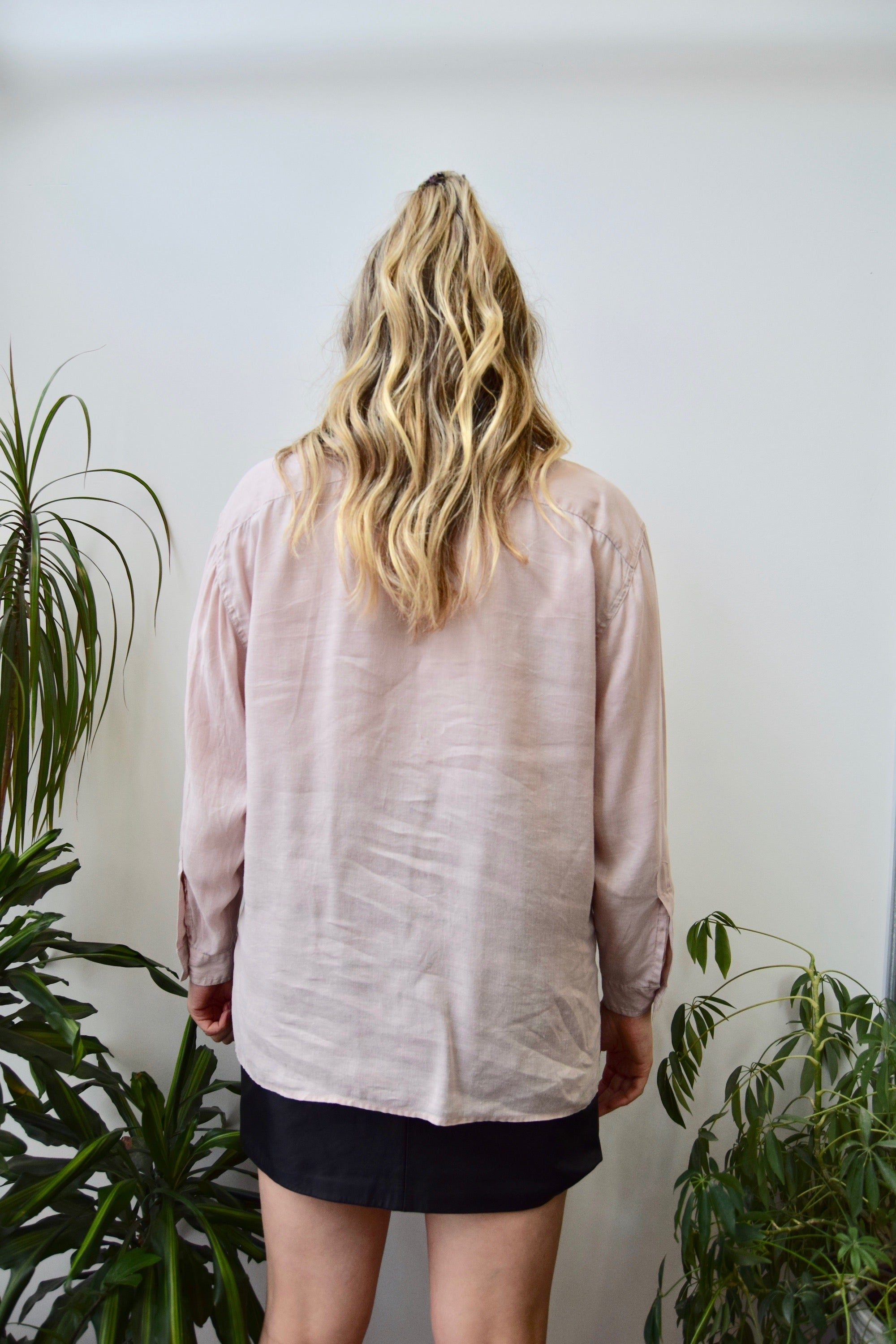 Soft Rose Linen Button Up