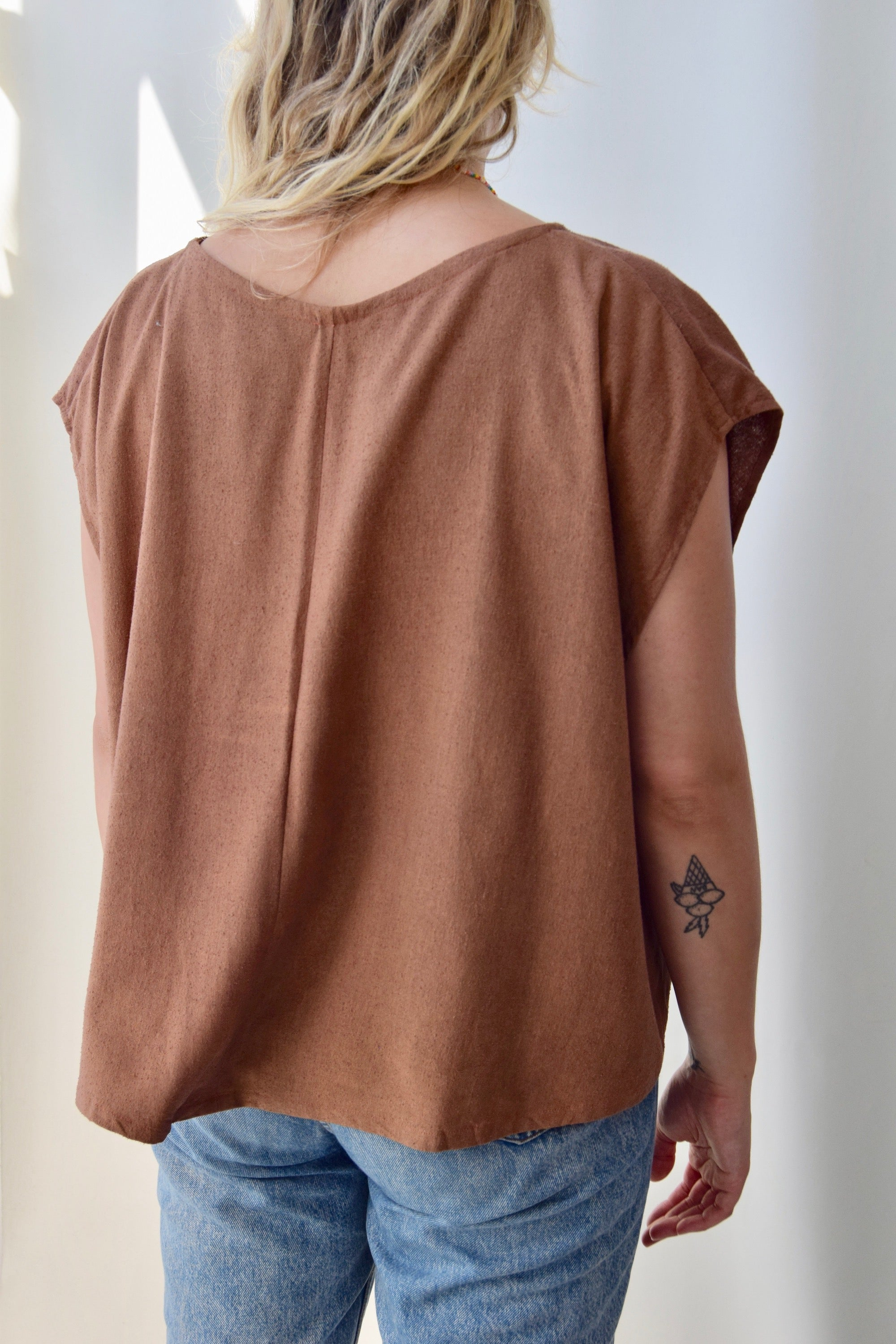 Cocoa Raw Silk Breezy Top
