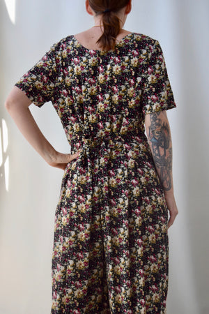 90's Floral Peter Pan Collar Jumpsuit