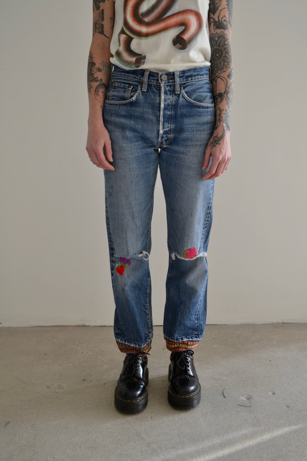"1960's ""Turned On"" Big E Selvedge Levis Jeans"