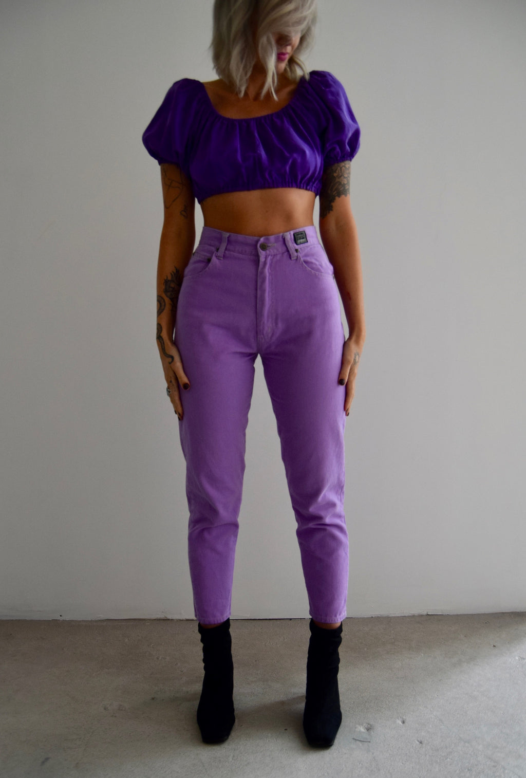 Versace Couture Rich Lavender Jeans FREE SHIPPING